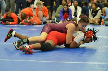 Lady Devil Mallerie Clampitt advanced to the semifinals at the state tournament.