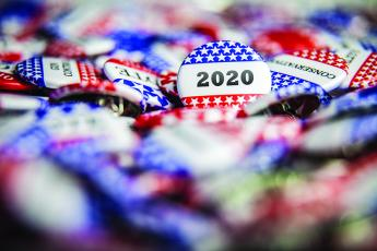 2020 voting buttons