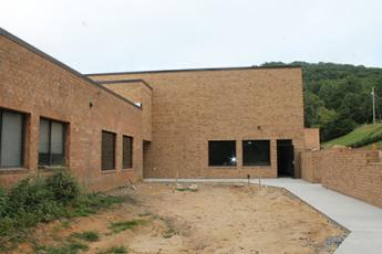 An exterior view of the two-story new STEM classrooms