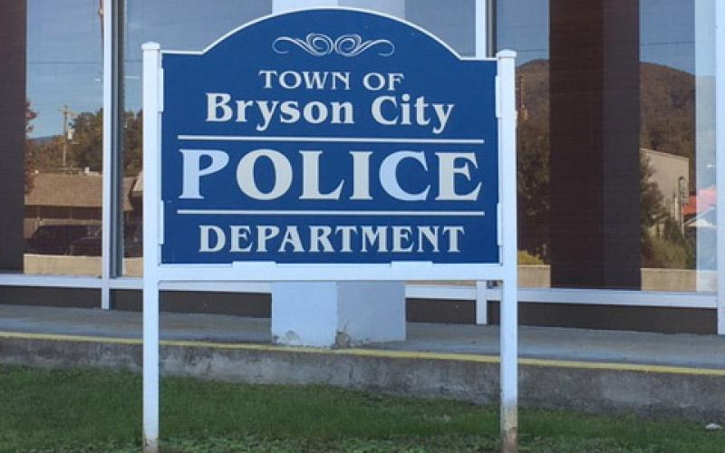 Bryson City Police Department sign