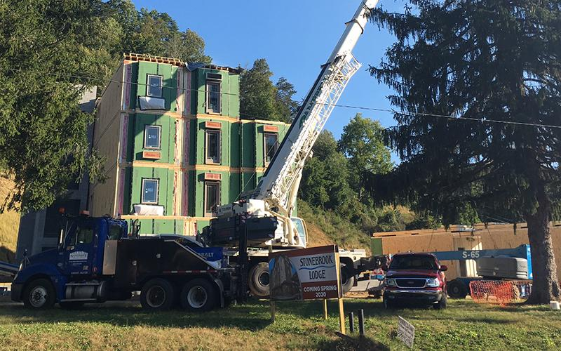 Construction ongoing for 4-story Stonebrook Lodge