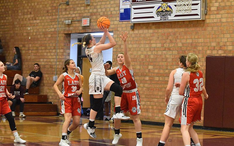 Lady Devil Mazie Helpman was the highest scorer for the Lady Devils Friday with 27 points.